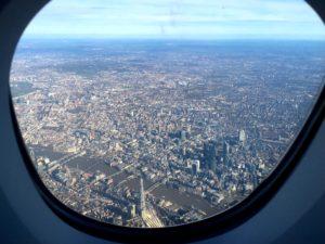 Circling over London