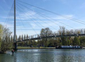 Reading suspension footbridge