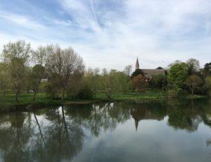 Clifton Hampden church from the bridge
